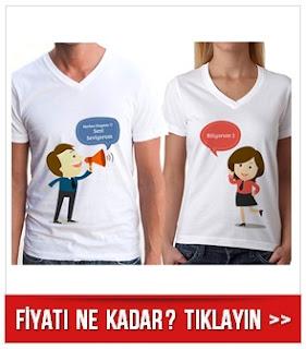 Herkes Duysun Seni Seviyorum Sevgili Tişörtü