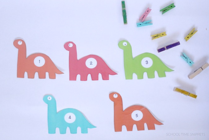 preschool counting printable