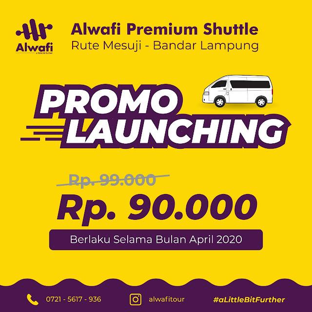 Alwafi Luncurkan Premium Shuttle Balam - Mesuji, Ini Fasilitasnya
