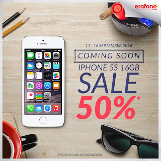 iPhone 5S 16 GB Harga Spesial Rp 2.299.500 (Diskon 50%) di Erafone