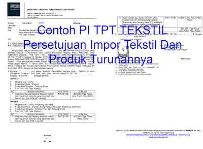 Cara Membuat Izin PI TPT-Persetujuan Impor Tekstil Dan Produk Tekstil