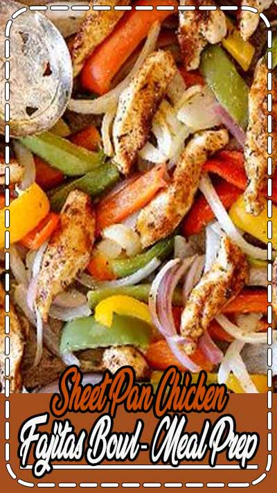 Let the oven do all of the work for these Sheet Pan Chicken Fajitas. All you need is one pan and about 20 minutes to have a healthy and wholesome meal prep ready for the entire week! #mealprep #sheetpan #fajitas