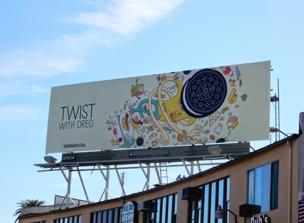 Twist with Oreo Wonderfilled billboard