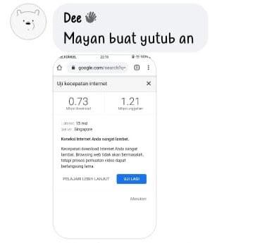 kecepatan telkomsel unlimited dari pengguna