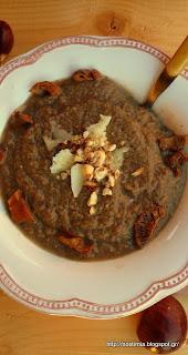 Χειμωνιάτικη βελουτέ σούπα μανιταριών με κάστανα