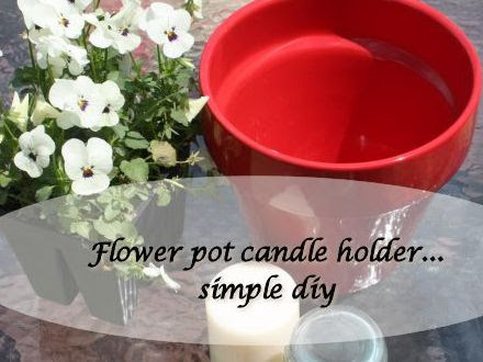 DIY Flower Pot Candle Holder for the patio