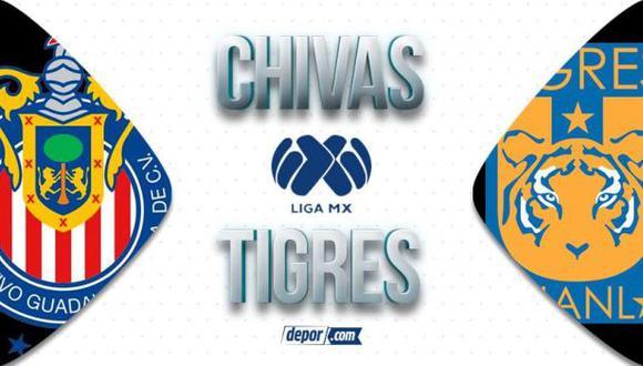 Chivas vs. Tigres juegan EN VIVO hoy: ver transmisión por la Liga MX 2021 aquí