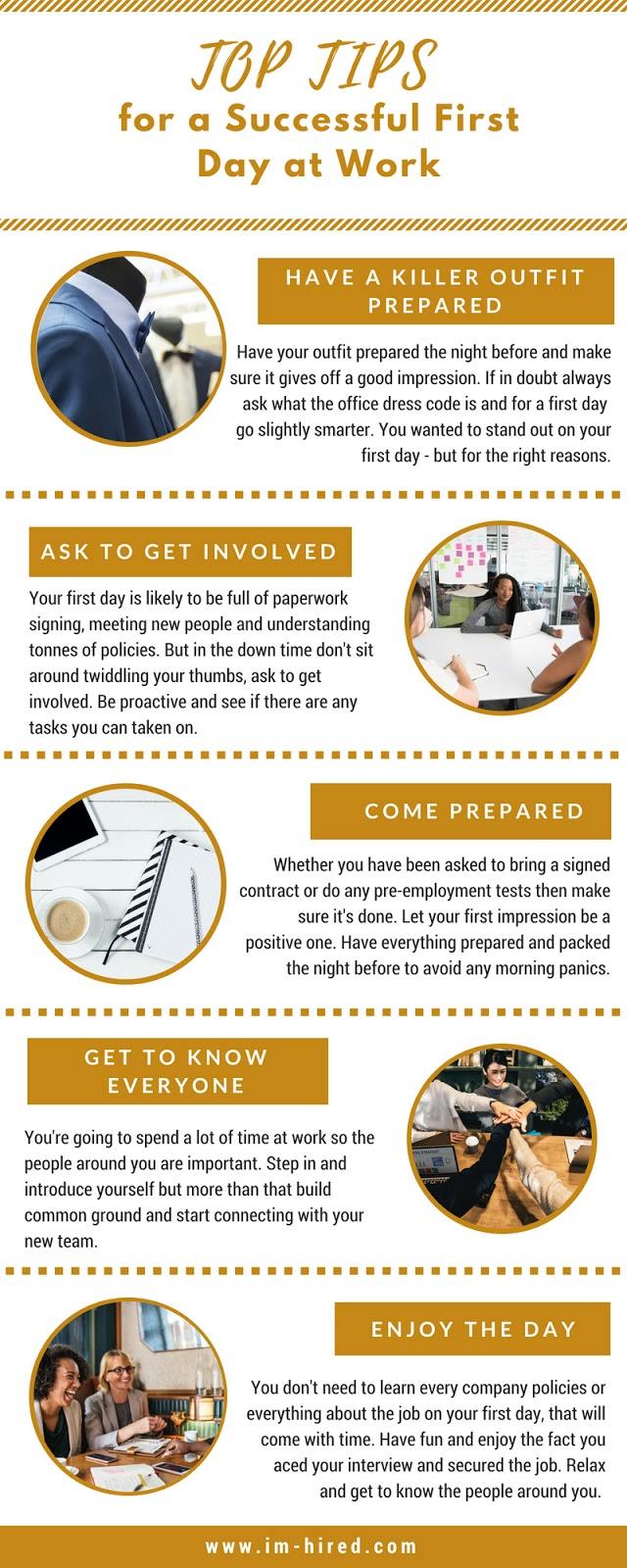 Stand Out on Your First Day of Work for all the Right Reasons, Infographic