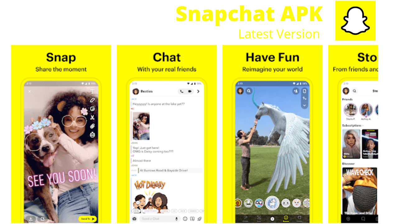 Snapchat Download APK For Android Latest Version