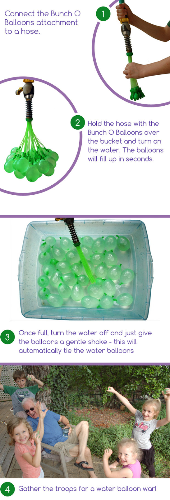 Bunch O Balloons: 100 Water Balloons in Less Than 1 Minute