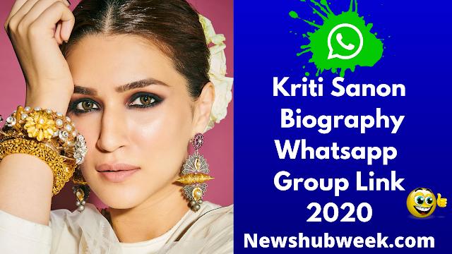 Kriti Sanon Wiki, Biography, Age, Kriti Sanon Fans WhatsApp Group Links