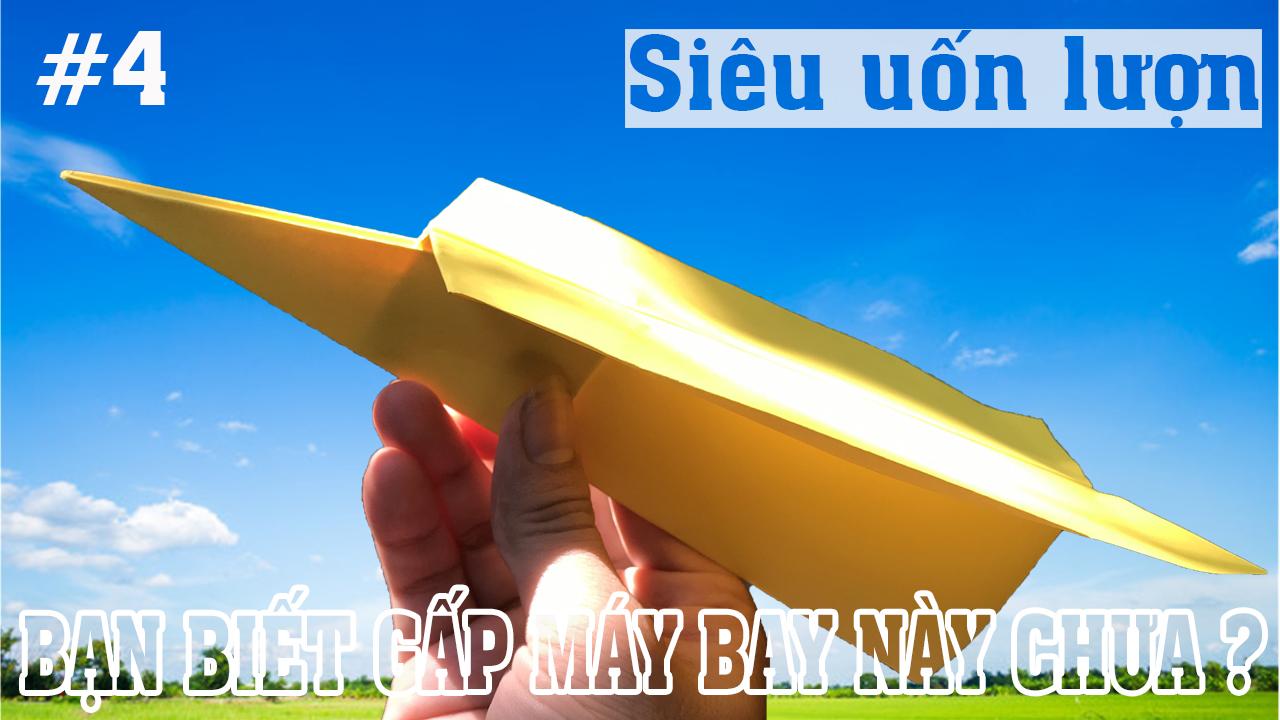 Cách gấp, xếp máy bay lượn bằng giấy A4 - Kiểu origami #4 | Máy bay boomerang