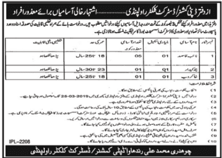 Deputy Commissioner Rawalpindi Jobs march 2019 Shakirjobs