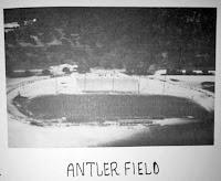 Aerial view Kerrville Texas Antler Stadium 1941