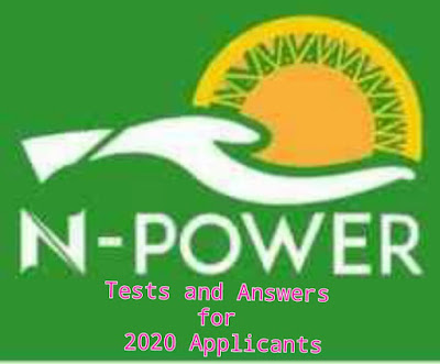 NPower Test Questions and Answers for 2020 Applicants Batch C