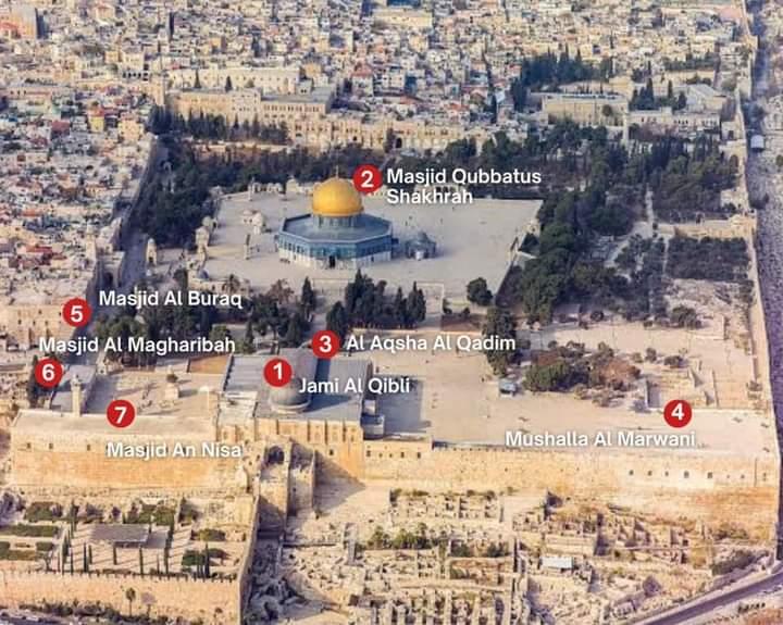 7 Tempat Shalat di Komplek Masjid Al Aqsha