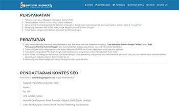 Safelink Blogger Mengadakan Kontes SEO