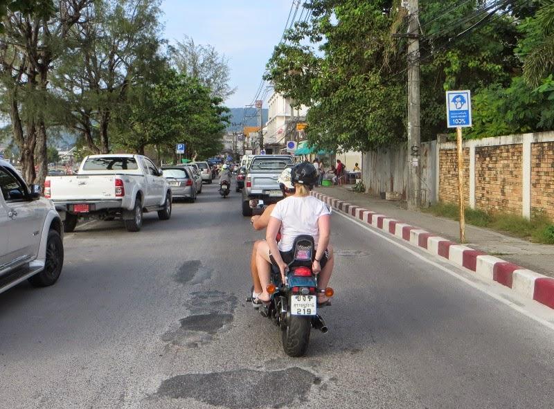 Хонда стид на дорогах Самуи