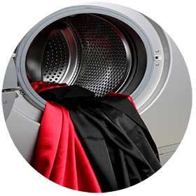 Meter la seda en la lavadora
