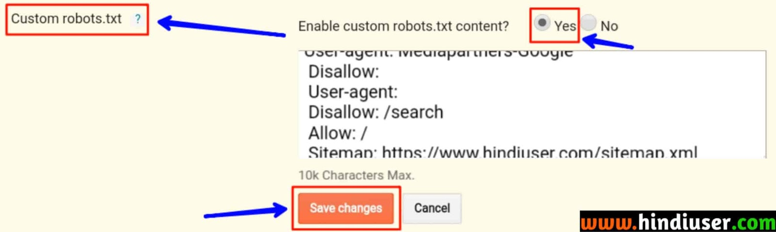 robot txt in hindi