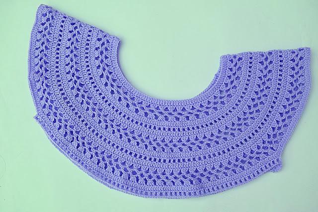 5 - Crochet Imagen Canesú para blusa muy facil y rapido por Majovel Crochet