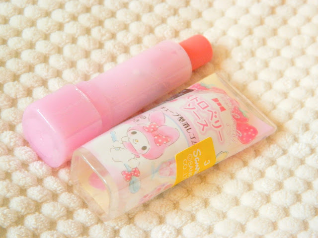 A photo showing a Sanrio My Melody themed pink lipstick eraser