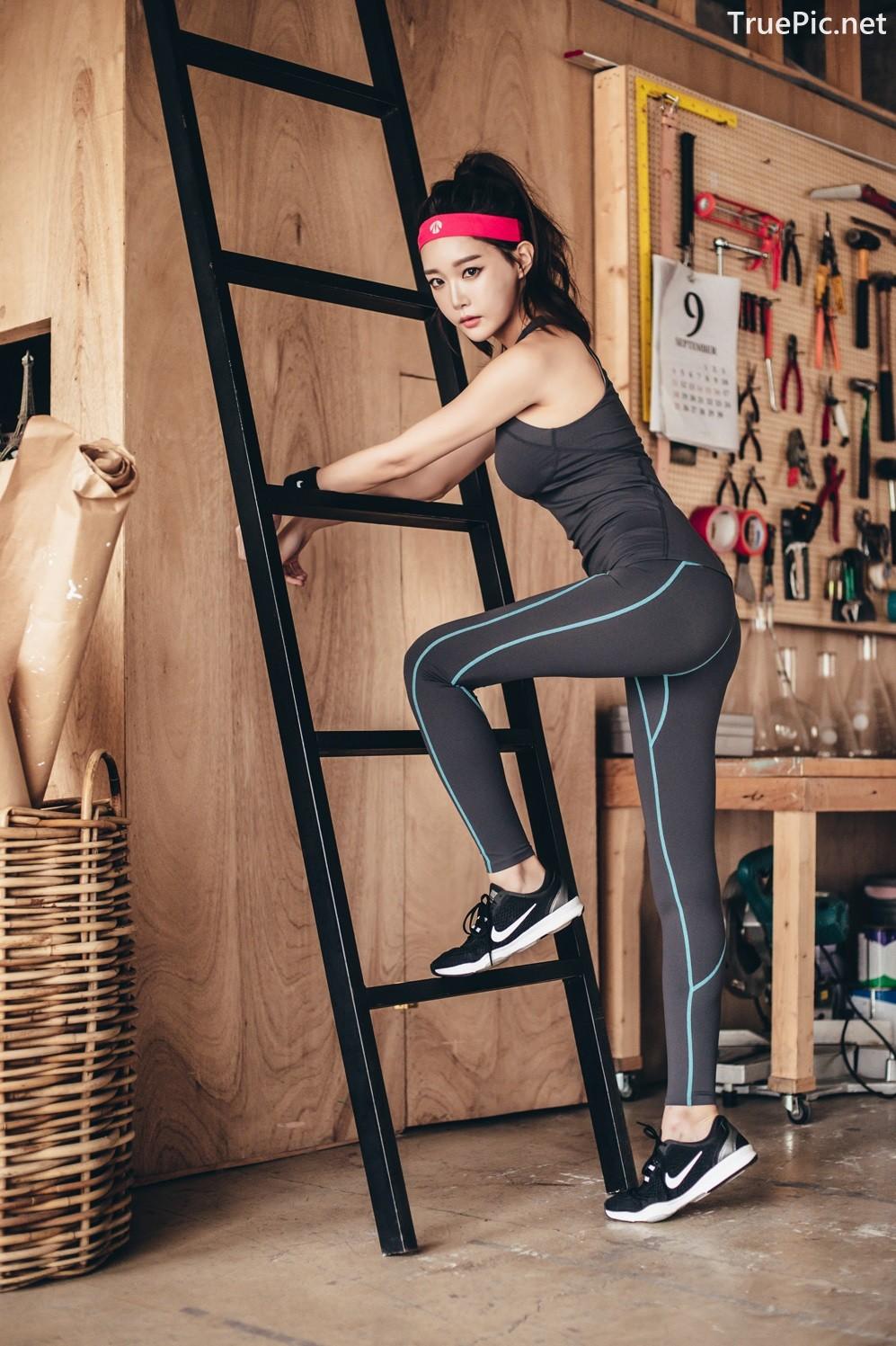 Image Korean Fashion Model - Yoon Ae Ji - Fitness Set Collection - TruePic.net - Picture-4