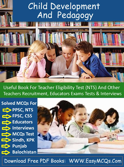 Child Development Edcuation MCQs With Answers PDF Books Download For Educators And Teachers Jobs Interview And Tests