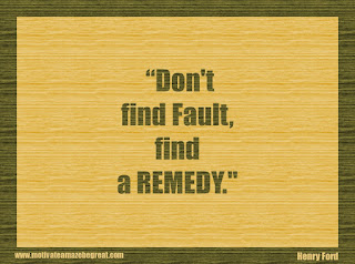 "Featured in our 34 Inspirational Quotes How To Fail Your Way To Success: ""Don't find fault, find a remedy."" - Henry Ford"