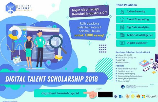 Beasiswa Pelatihan Intensif Digital Talent Indonesia