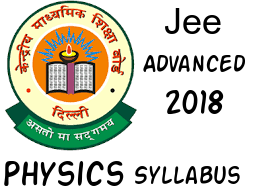 JEE Advanced 2018 Physics syllabus