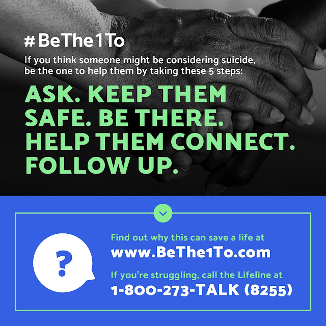 #BeThe1To prevent suicide