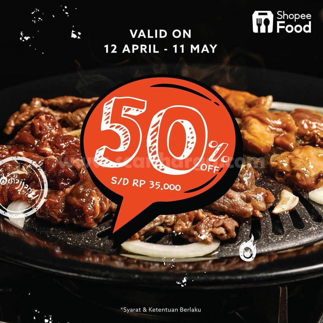 POCHAJJANG Promo Diskon 50% Off Via Shopee Food