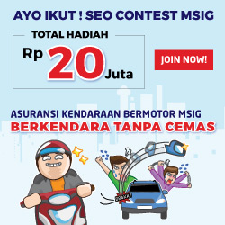 Kontes SEO Asuransi Kendaraan MSIG, Berkendara Tanpa Cemas