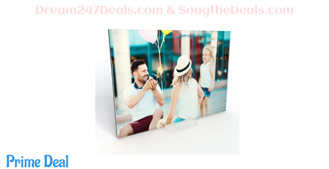 40% off E+L Acrylic Facemount Picture Frame 5x7 Inch - A New Technology to Showcase Your Art and Photos - Single Sided - with Mini Acrylic Stand for Desktop Display,1Pack
