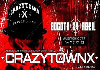 Concierto de CRAZY TOWN X en Colombia