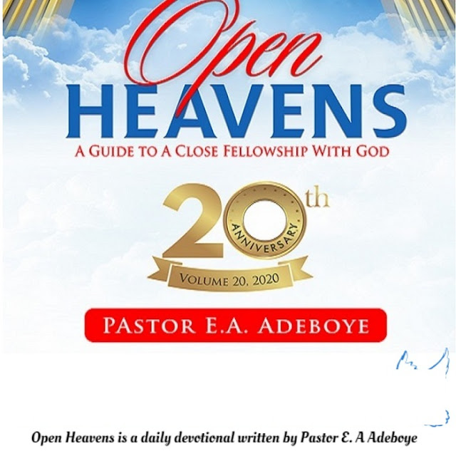 Open Heaven for Today 3 January 2020 – Prayer for the New Year 2020 4