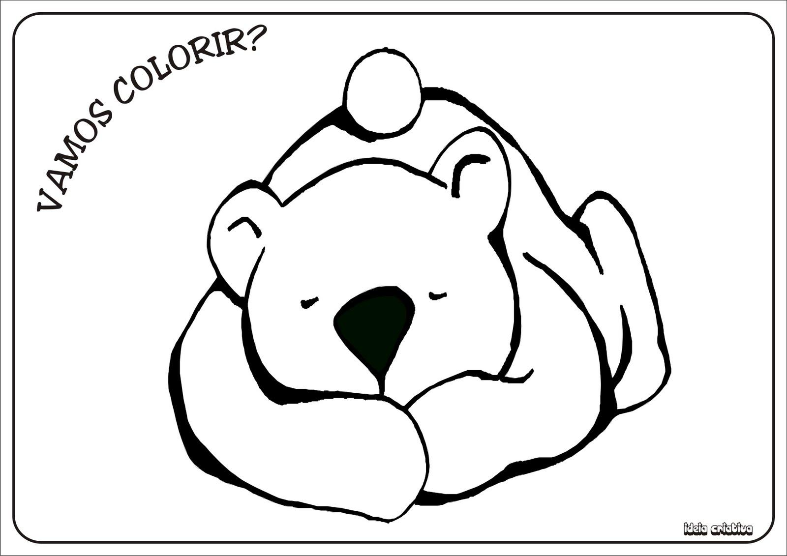 Ursinho Colorir