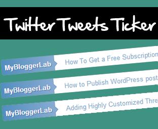 Twitter Tweets Ticker Widget For Blogger  Horizontal Twitter Tweets Ticker Widget For Blogger