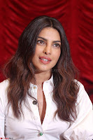 Priyanka Chopra in White Shirt and Colorful Skirt at Baywatch Press Conference  15th May 2017 ~  Exclusive 15.jpg