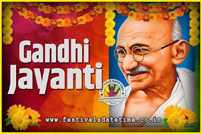 2044 Gandhi Jayanti Date and Time, 2044 Gandhi Jayanti Calendar