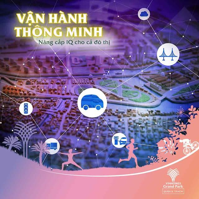 mạng lưới giao thông tại vincity grand park quận 9