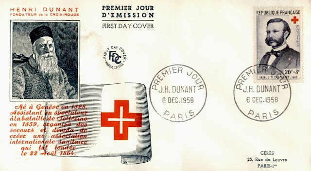 Henri Dunant, Red Cross Founder France FDC