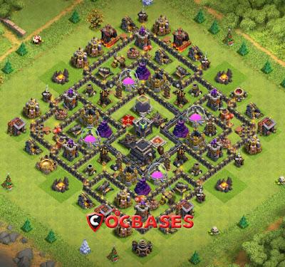 Base TH 9 Farming , Base TH 9 Farming Terkuat , Base Farming th 9