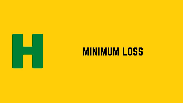 HackerRank Minimum Loss problem solution