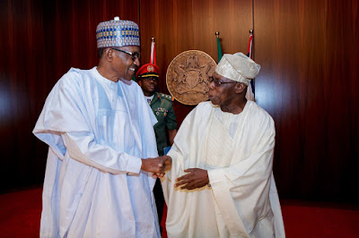 Obasanjo Attends Council of State Meeting In Aso Rock... Jonathan, IBB Absent
