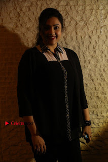 Tamil Actress Meena Latest Stills in Black Dress at TSR TV9 Awards Press Meet  0030.JPG