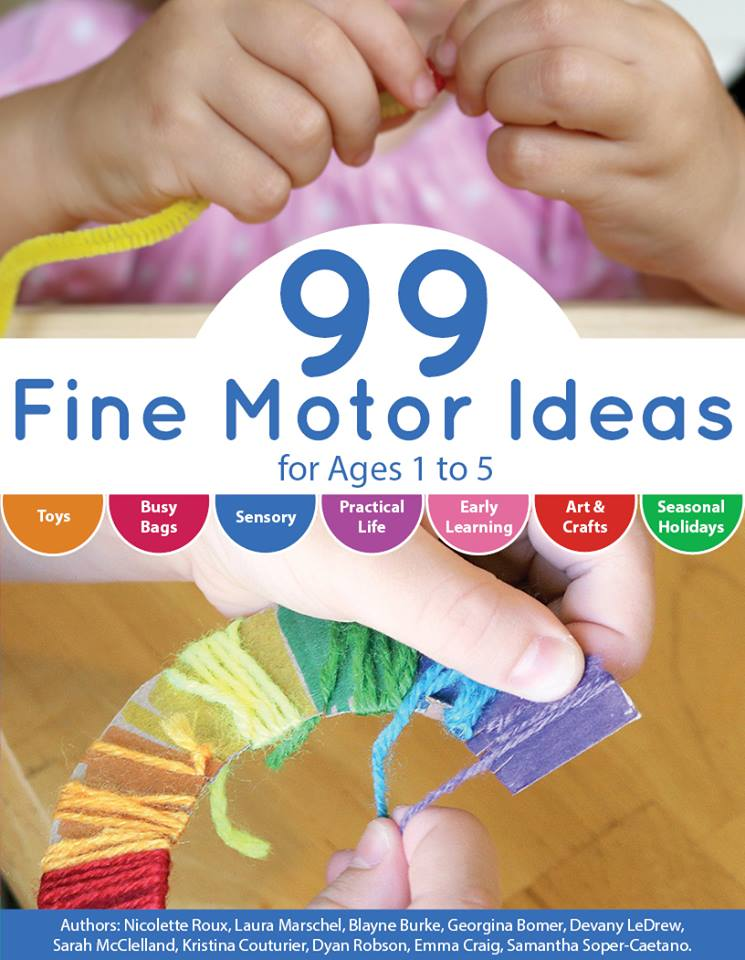 99 Fine Motor Ideas for Ages 1 to 5 Book co-authored by Dyan Robson from And Next Comes L
