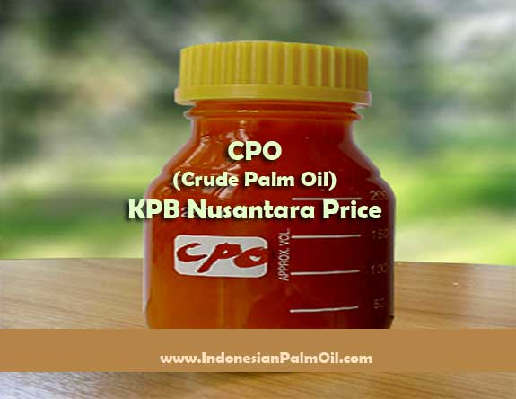 cpo crude palm oil kpb nusantara price