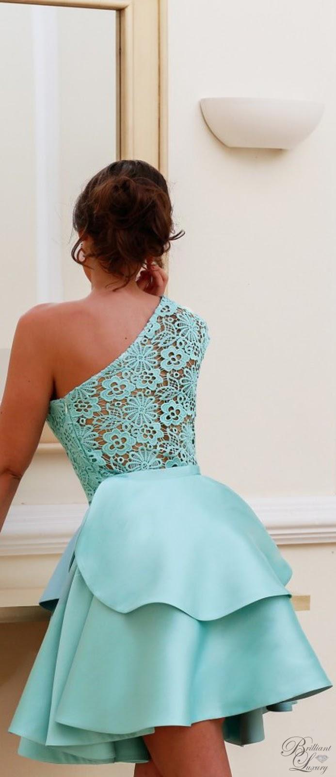 Brilliant Luxury ♦ Silvia Navarro turquoise Sia layered dress